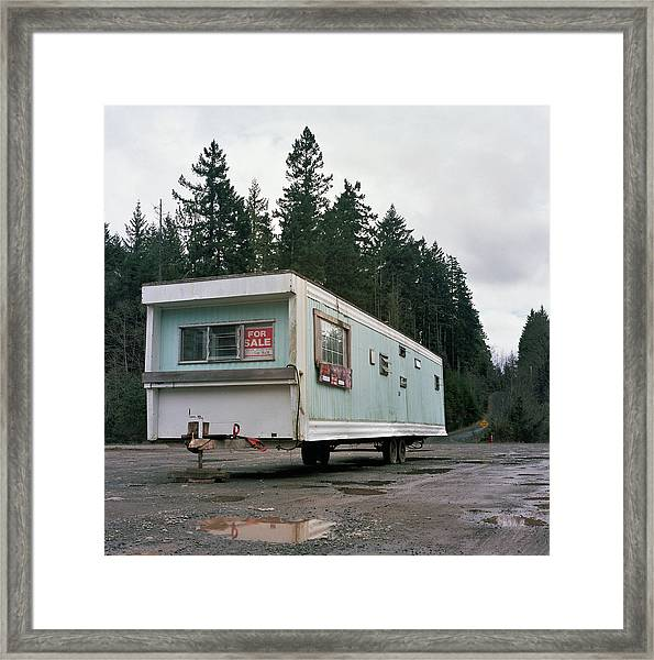 Run Down Trailer Framed Print by Photo By Christopher Hall