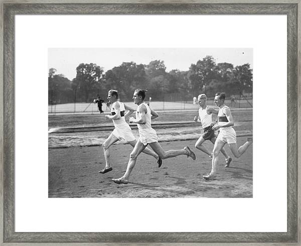 Runners Training Framed Print
