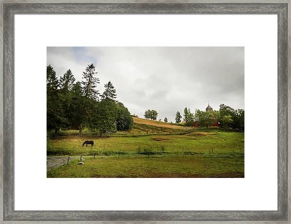 Rural Landscape In Trondheim Norway Framed Print