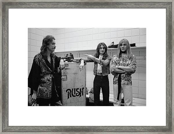 Rush In Springfield Framed Print