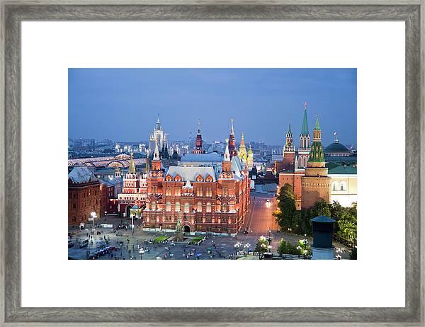 Rusia , Moscow City, The Kremlin, San Framed Print