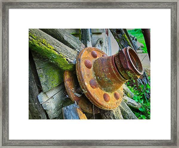 Rusted Hub Framed Print