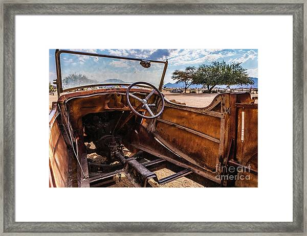 Rusty Car Leftovers Framed Print