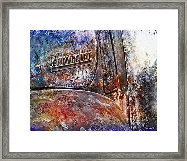 Rusty Rainbow Framed Print