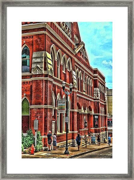 Ryman Auditorium # 2 - Nashville Framed Print