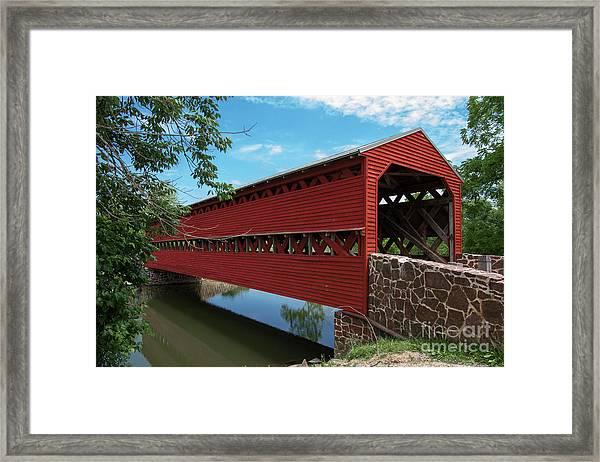 Sachs Covered Bridge Framed Print