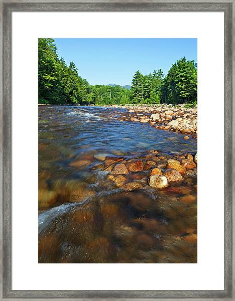 Saco River Rapids Framed Print by Wholden