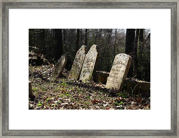 Sacred To The Memory Of Framed Print