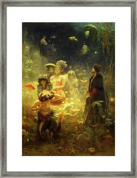 Sadko In The Underwater Kingdom Framed Print