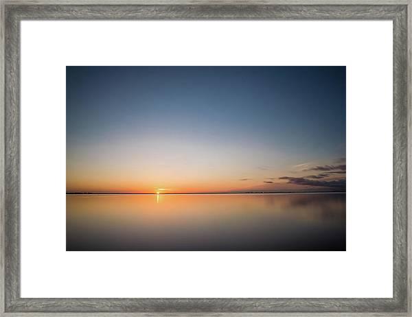 Safety Harbor Sunrise Framed Print