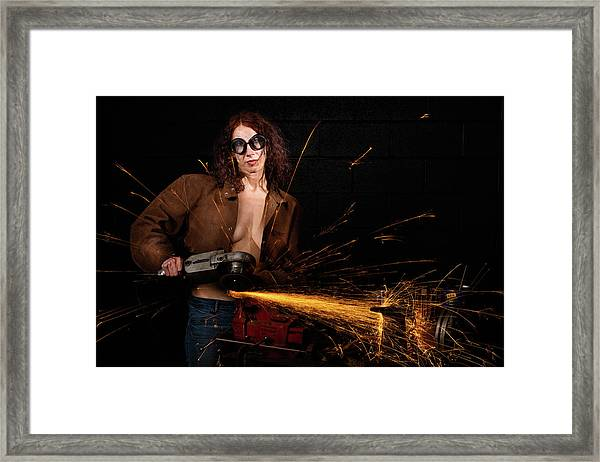 Light Em Up Framed Print