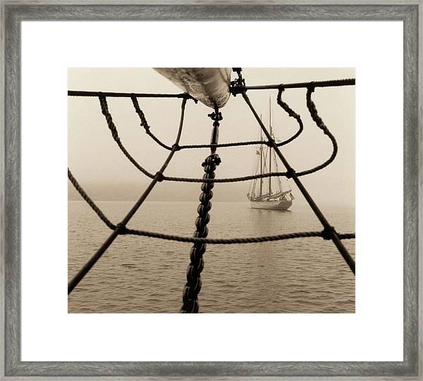 Sailboat And Jack Net Framed Print