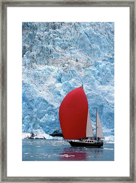 Sailboat Prince William Sound Alaska Framed Print