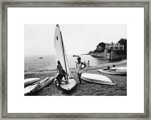 Sailboat Framed Print by Slim Aarons