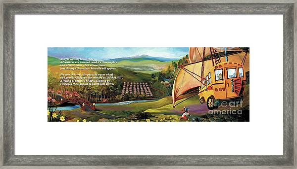 Sailbus Flight Home Framed Print