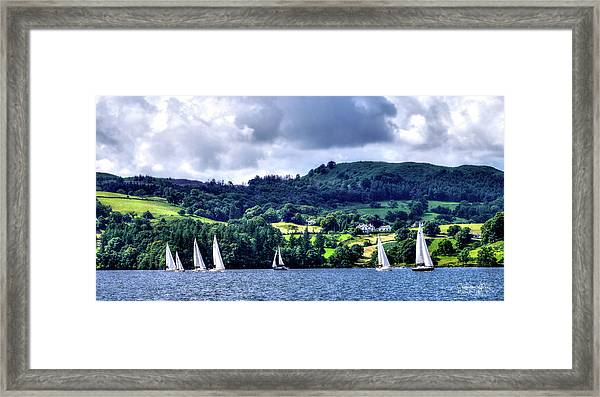 Sailing In Heaven Framed Print
