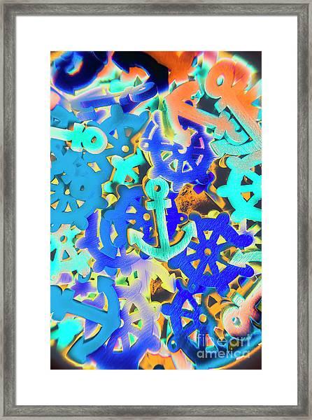 Sailing Pop Art Framed Print