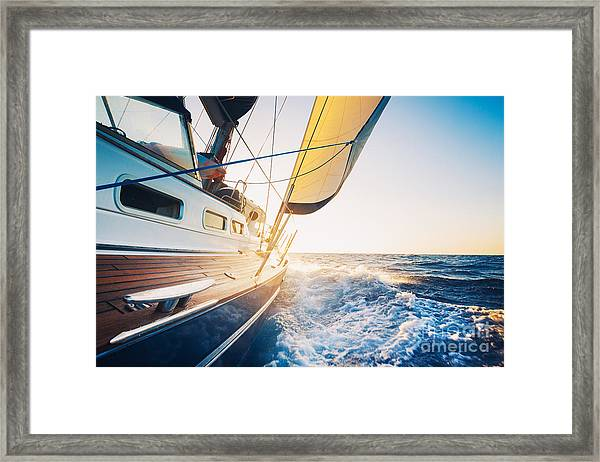 Sailing To The Sunrise Framed Print