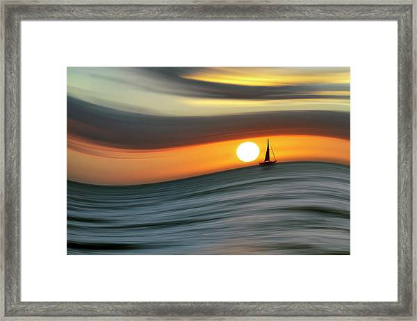 Sailing To The Sunset Framed Print