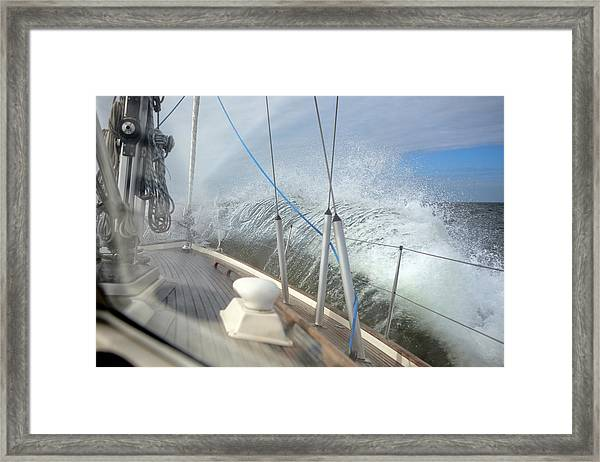Sailing Waves Framed Print