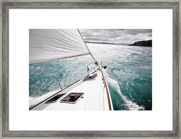 Sailing Yacht, Whitsundays Framed Print