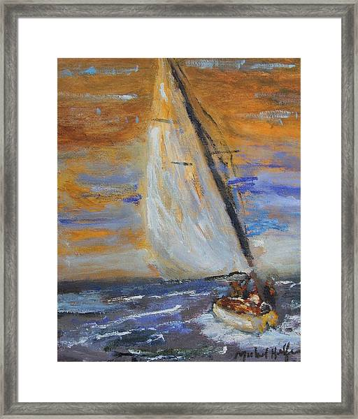 Sailng Nto The Sun Framed Print