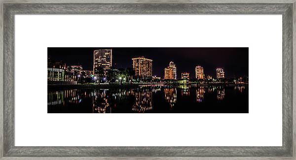 Saint Petersburg Skyline Framed Print