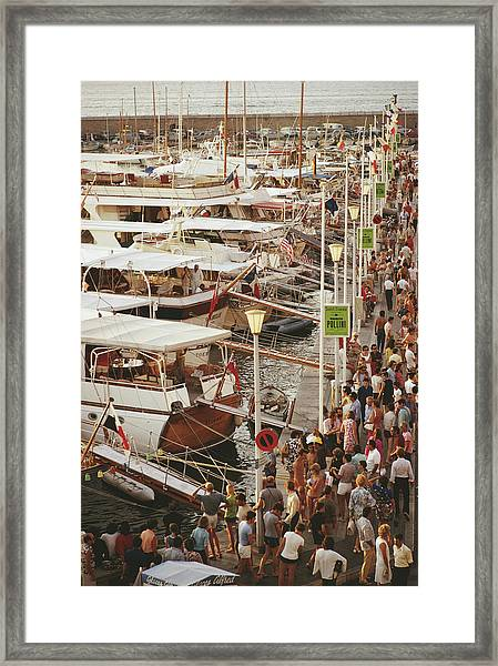 Saint-tropez Seafront Framed Print by Slim Aarons