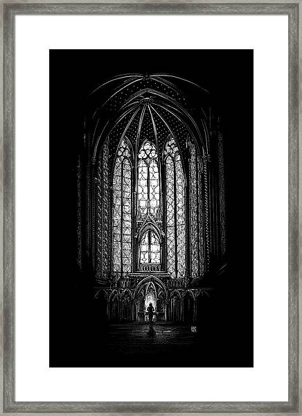 Framed Print featuring the drawing Sainte-chapelle by Clint Hansen
