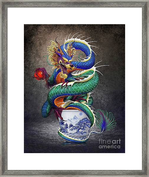 Sake Dragon Framed Print