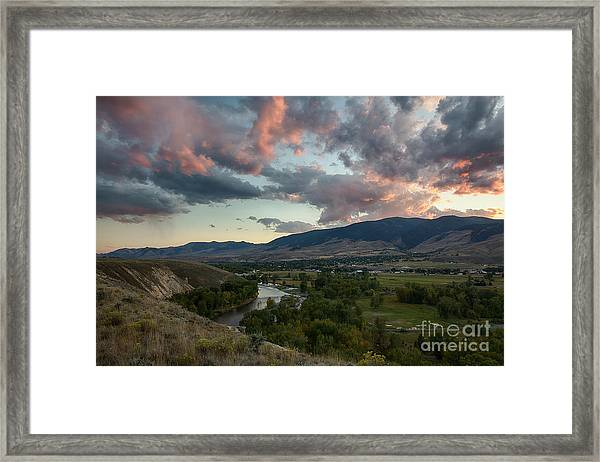Salmon Clouds Framed Print