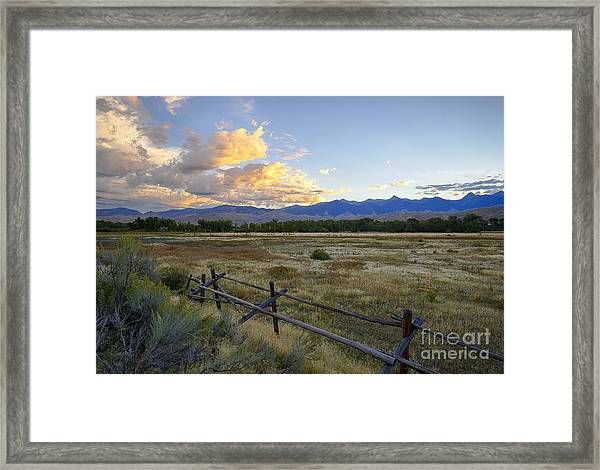 Salmon Valley Dawn Framed Print