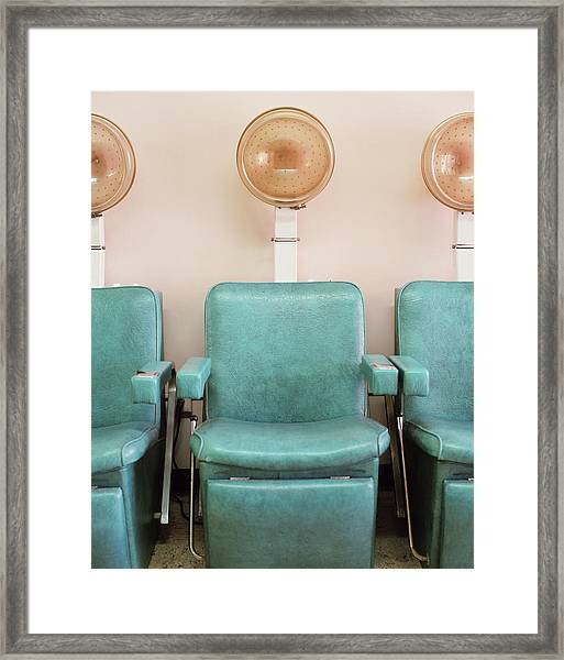 Salon Hair Dryers Framed Print