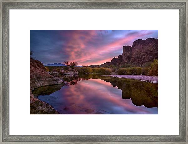 Salt River Sunrise 2 Framed Print