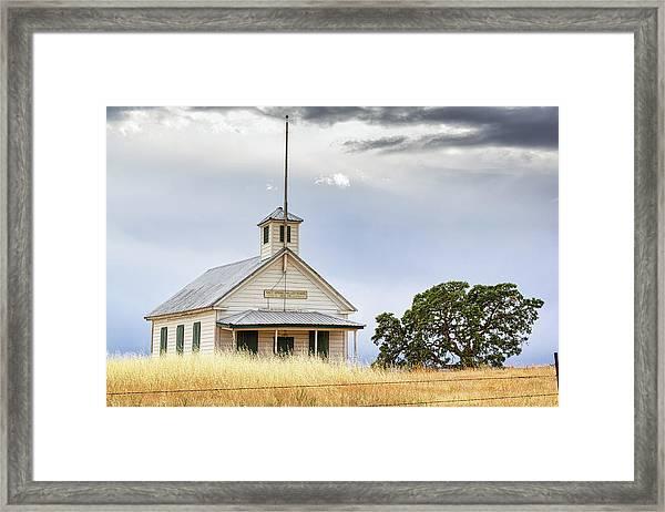 Salt Spring Valley School Framed Print