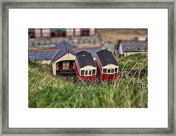 Framed Print featuring the photograph Saltburn Tramway by Scott Lyons
