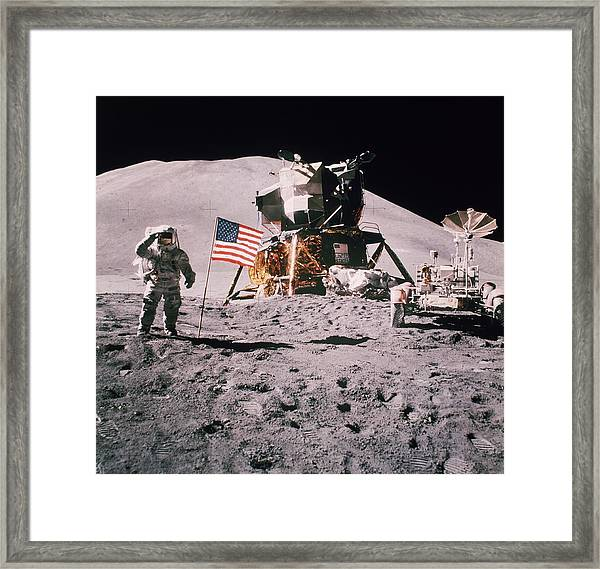 Salute The Moon Framed Print