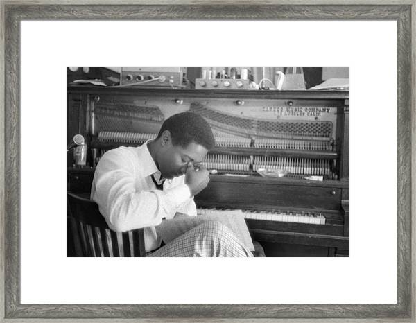 Sam Cooke At The Piano Framed Print by Michael Ochs Archives