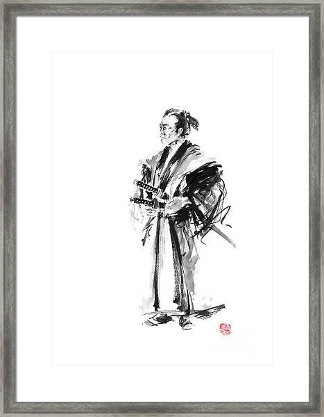Samurai Poster Bushido Japanese Art Samurai Warrior Japanese Sword Framed Print