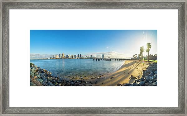 San Diego Bay - Panorama Framed Print