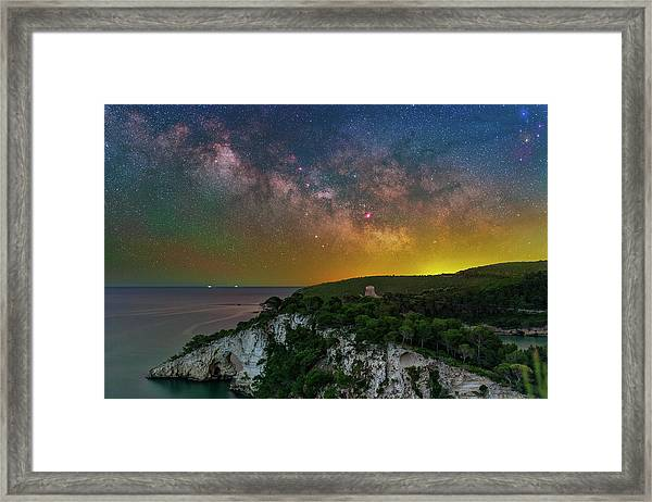 San Felice Arch And Tower Framed Print
