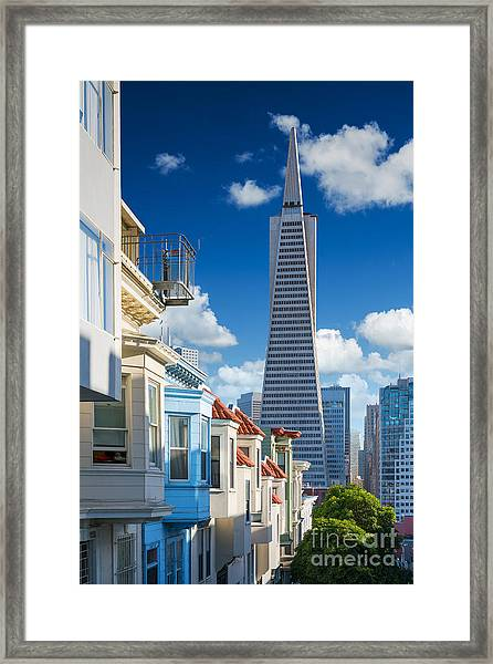 San Francisco Downtown. Famous Typical Framed Print