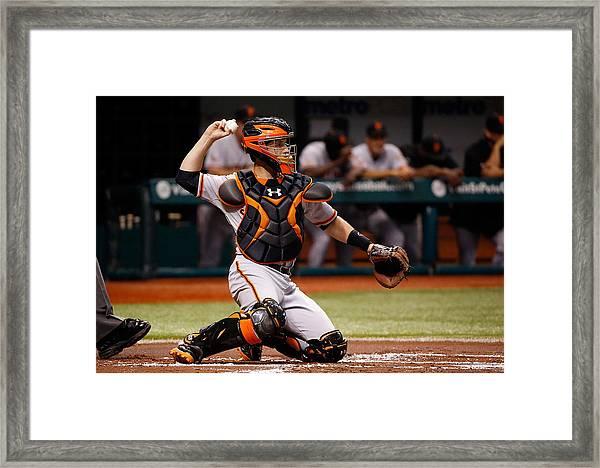 San Francisco Giants V Tampa Bay Rays Framed Print