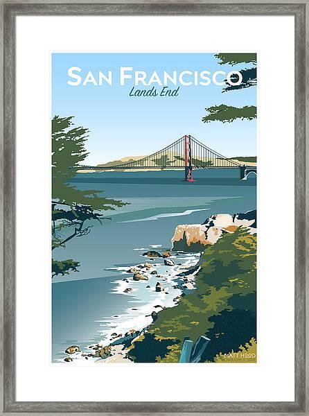 San Francisco Lands End Framed Print