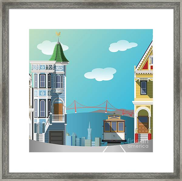 San Francisco Landscape Framed Print by Nikola Knezevic
