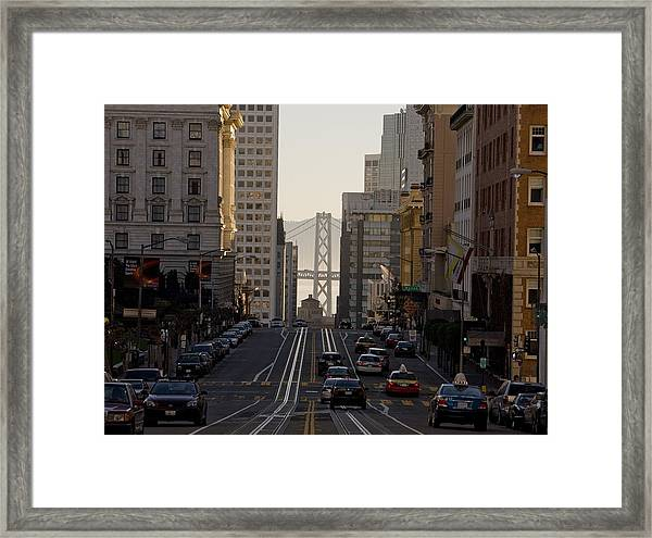San Francisco Top California Travel Framed Print by George Rose