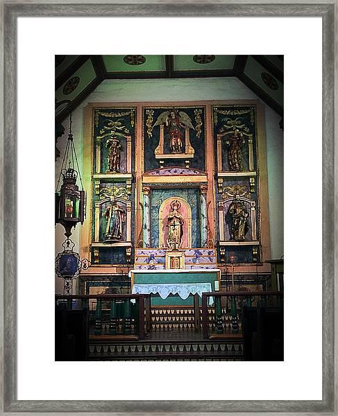 San Gabriel Mission No. 2, High Altar Framed Print