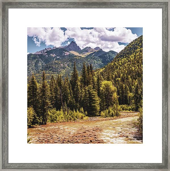 San Juan Mountains Over The Animas River - Silverton Colorado Framed Print