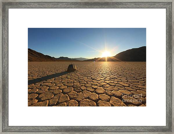 Sand Dune Formations In Death Valley Framed Print by Tobkatrina