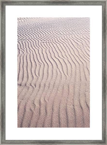 Sand Ripples Framed Print